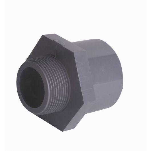 Hexagon Nipple Plain Spigot-Male BSP