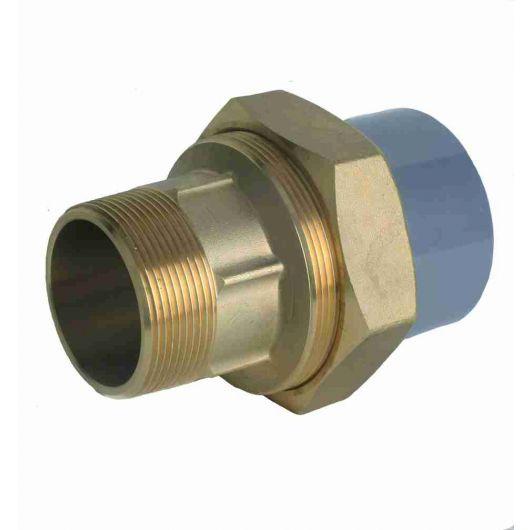 Composite Union Plain-Brass Male BSP Thd