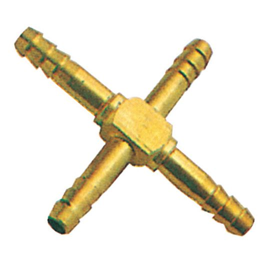 Brass Equal Cross Hose Tail