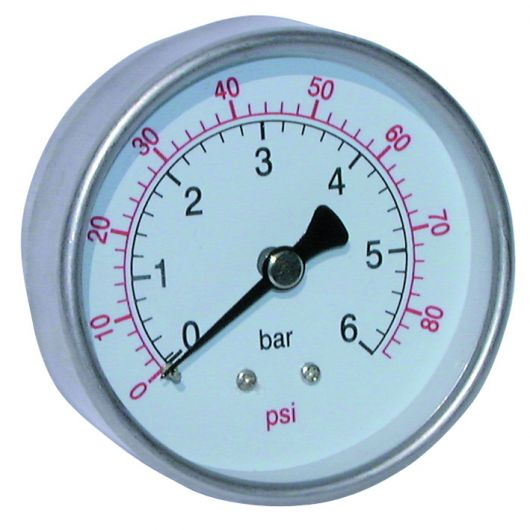 Stainless Steel Dry Gauge Centre Back Connection