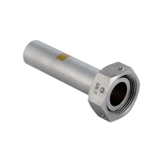 Adaptor w- Union Nut CrNi Steel & Plain End (Gas)