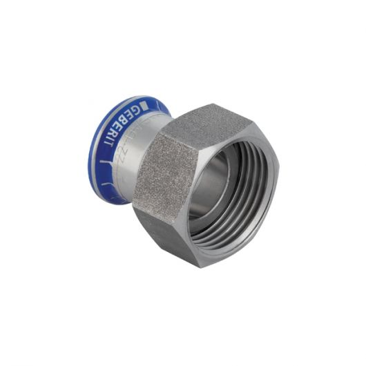Adaptor with Union Nut made of CrNi Steel