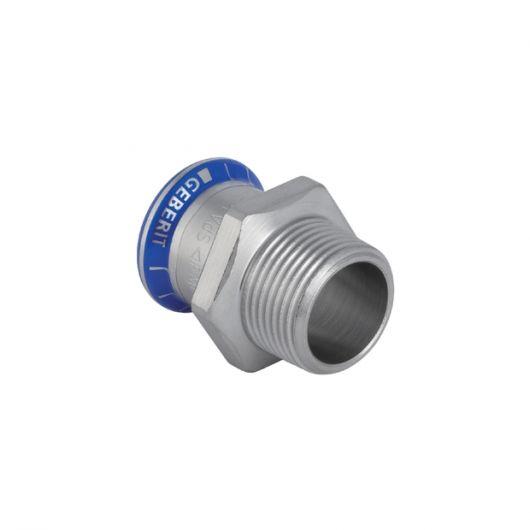 Adaptor with Male Thread (FKM  Blue)