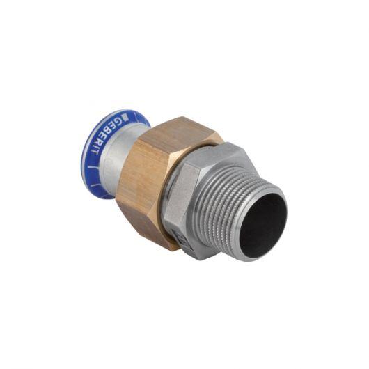 Adaptor Union with Male Thread (FKM  Blue)