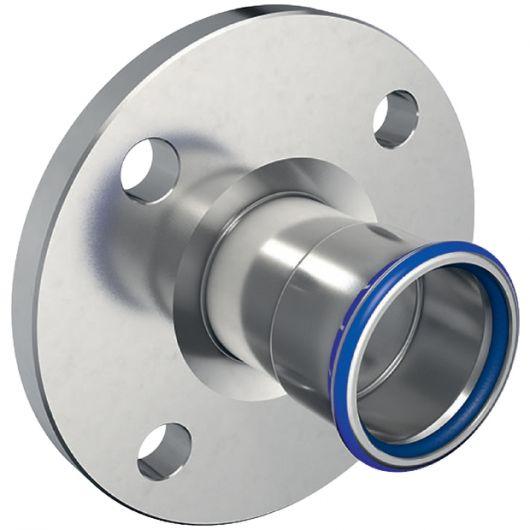 Flange PN 10-16  with Pressing Socket (FKM  Blue)