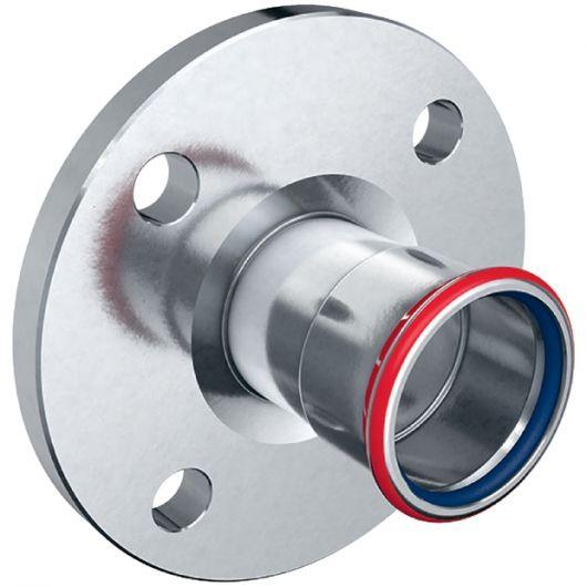 FKM Flange PN 10-16 with Pressing Socket