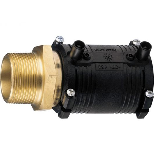 Transition Coupler PE-Brass Male Thread