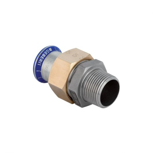 Adaptor Union with Male Thread (Si-Free)