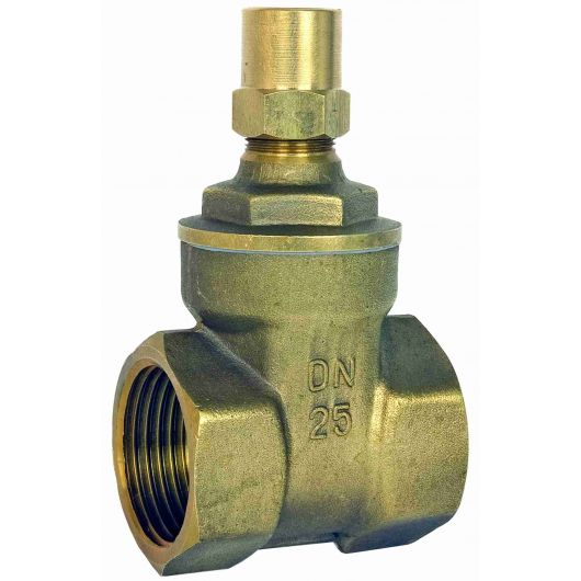ART640LS DZR Brass Gate Valve BSP Taper Lockshield