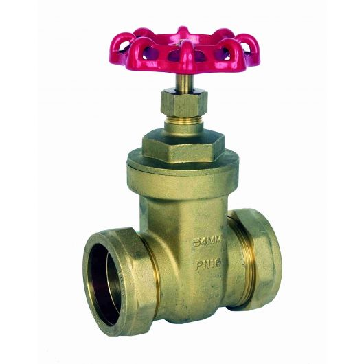 ART615 Brass Gate Valve Compression Ends