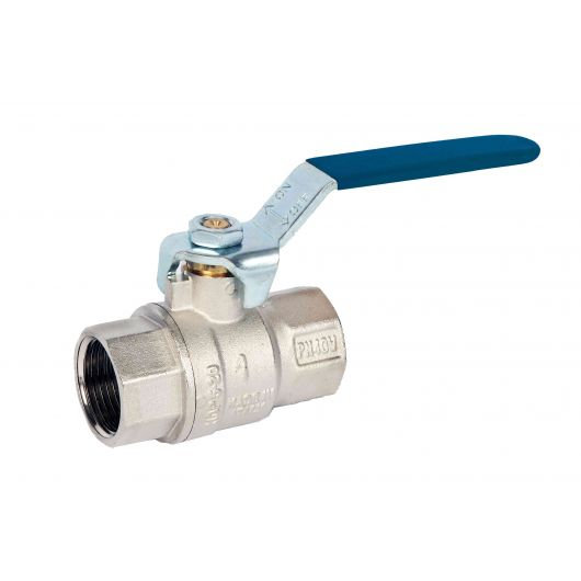 ART45P Blue 2 Piece Brass Ball Valve BSP Parallel Blue
