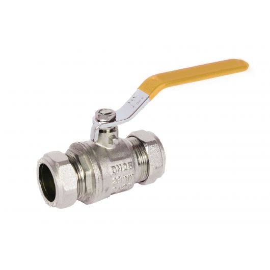 ART89X Yellow Brass Ball Valve Compression Ends