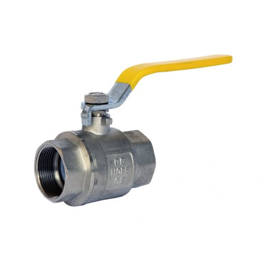 ART40P Yellow 2 Piece Brass Ball Valve BSP Parallel