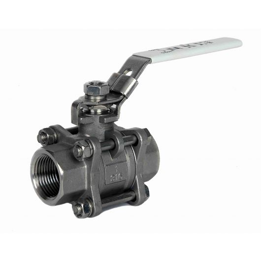 ART903 3 Piece St.St. Ball Valve BSP Taper