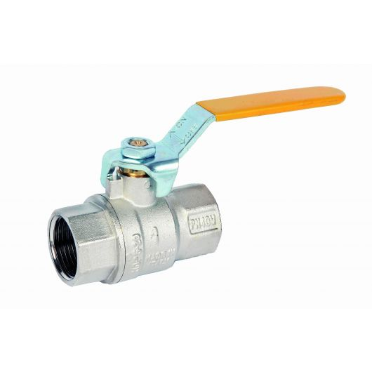 ART45P Yellow 2 Piece Brass Ball Valve BSP Parallel