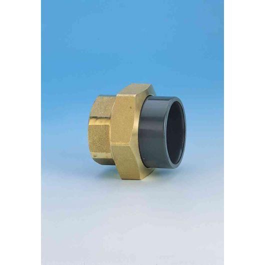 TP PVC-U Composite Union Plain- Brass F.I