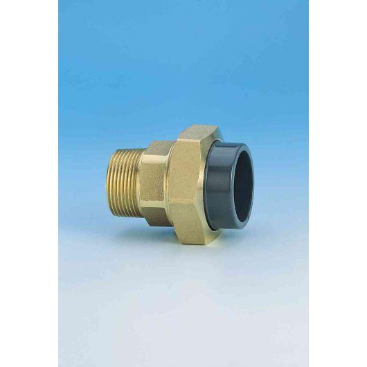 TP ABS Composite Union Plain- Brass Male Thread