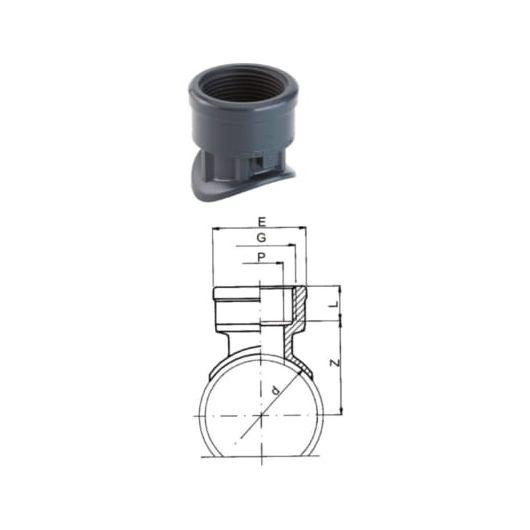 TP PVC-U Saddle Socket with Female Thread