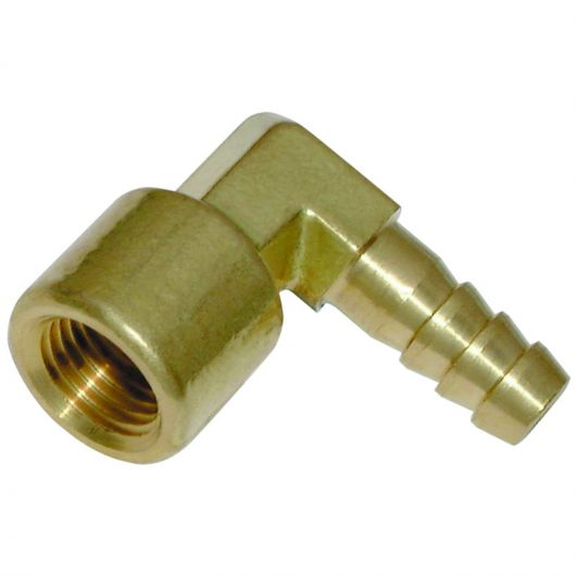 Brass 90 Degree Elbow F.I. BSPP x Hose Tail