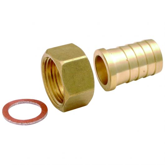 Brass F-F Seat with Washer SW Nut BSPP x Hose Tail
