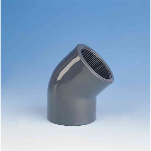 TP PVC-U 45 Degree Elbow Threaded