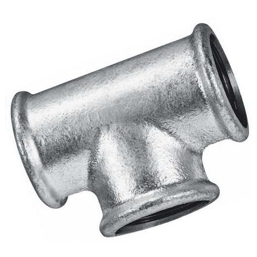 Galvanised Equal Tee Female BSPP