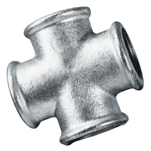Galvanised Equal Cross Female BSPP