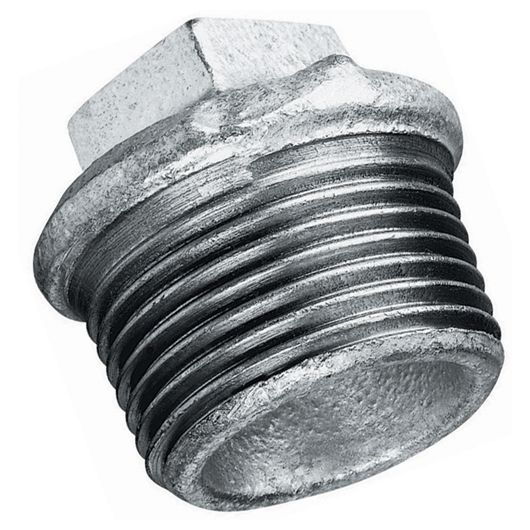 Galvanised Beaded Hollow Plug BSPT