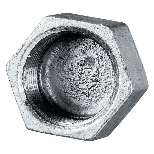 Galvanised Hexagonal Cap Female BSPP