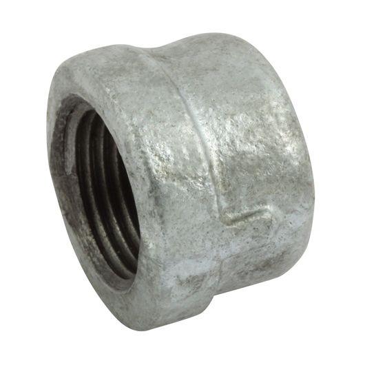 Galvanised Round Cap BSPP