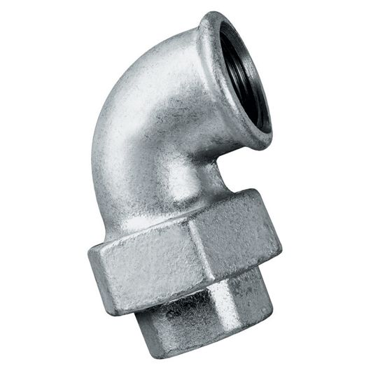 Galvanised 90 Degree Elbow Taper Seat Female BSPP