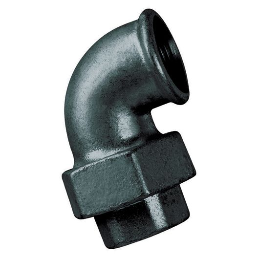 Black 90 Deg Elbow Taper Seat Female BSPP