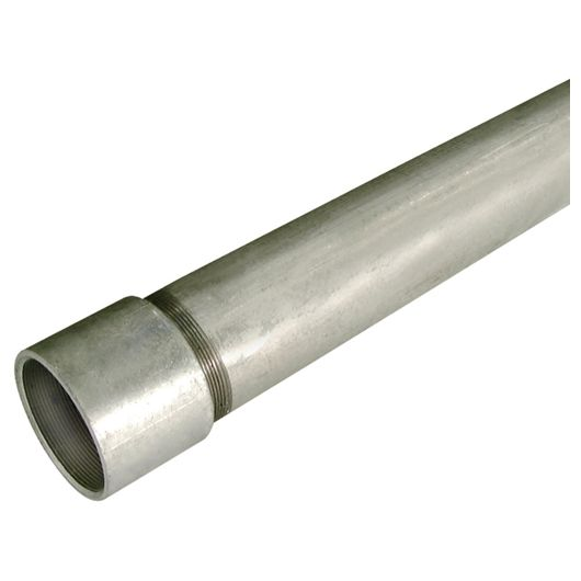 Medium Grade Galvanised Socketed Tube 3.25 Metre
