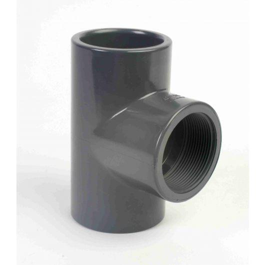 PVC 90 Degree Tee Plain- BSP Off Take