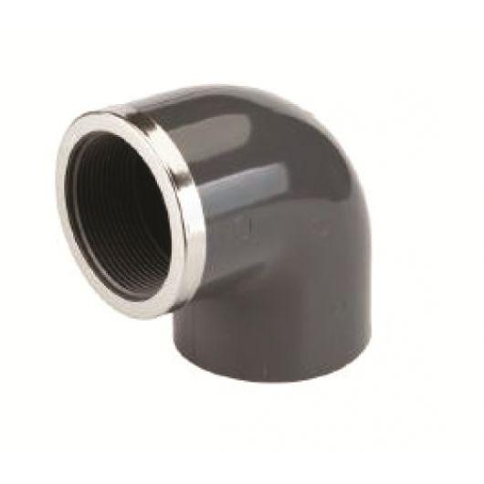 TP PVC-U 90 Degree Elbow Rp Plain- Threaded