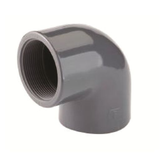 TP PVC-U 90 Degree Adaptor Elbow Plain- Threaded