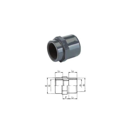 TP PVC-U Adaptor Socket Rp