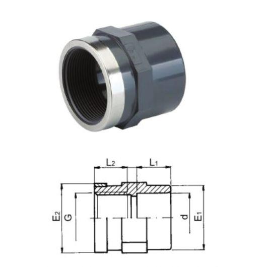TP PVC-U Adaptor Plain- Threaded
