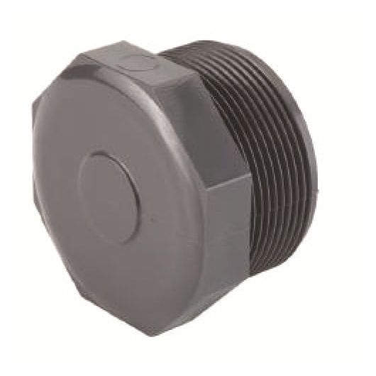 TP PVC-U Plug Threaded