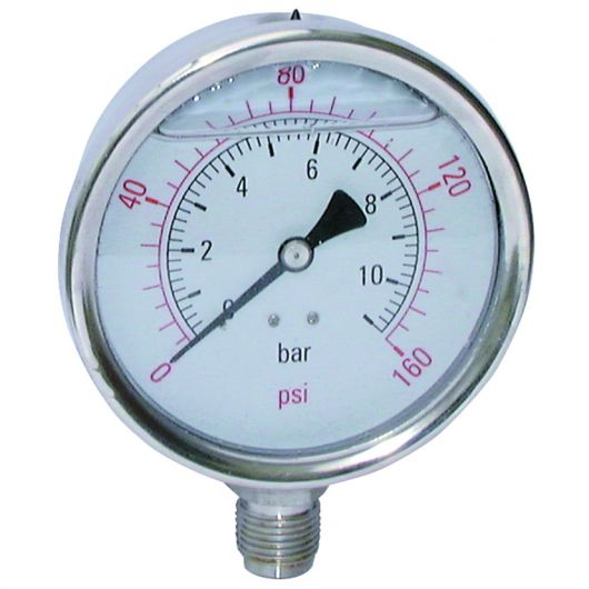 Stainless Steel Gauge  Bottom Connection