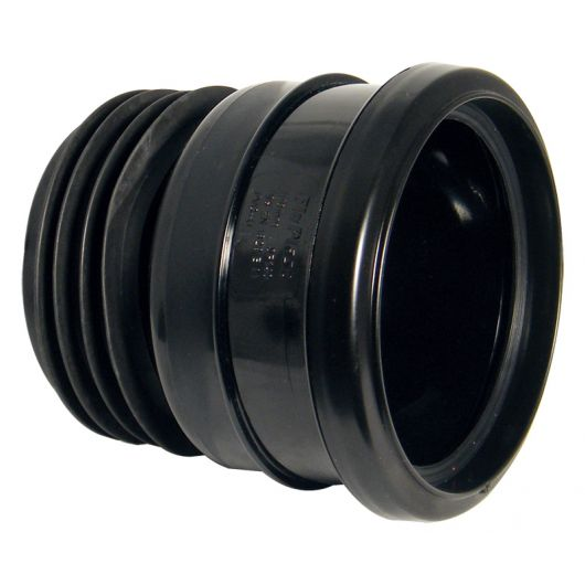 FloPlast Black PVC-U Universal Pipe Connector