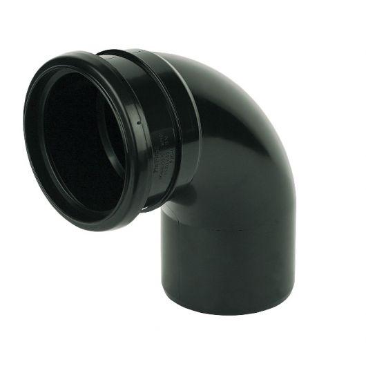 FloPlast Black PVC-U Socket- Spigot Bend
