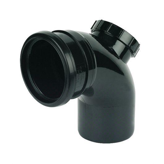 FloPlast Black PVC-U SP169 Bend