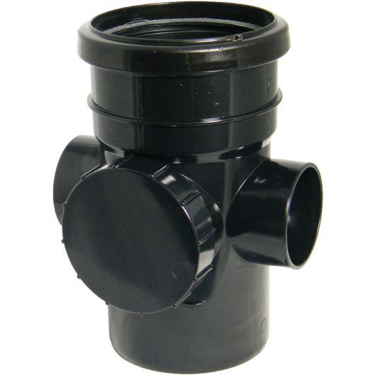 FloPlast Black PVC-U Access Pipe
