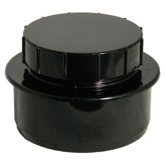 FloPlast Black PVC-U Access Cap