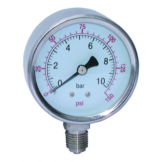 Stainless Steel Dry Gauge Bottom Connection