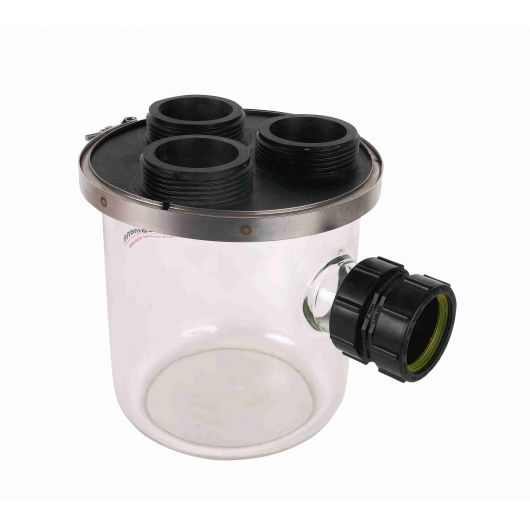 Vulcathene Dilution Recovery Trap Glass Base  Lid