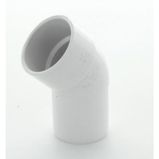 ABS Double Socket Spigot Bend 45 Deg