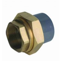 Durapipe ABS Composite Union Plain/Brass Female 1 1/4""