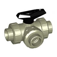 +GF+ PROGEF Ball Valve 543 L-Port FPM w/ Fus Sock. 25mm
